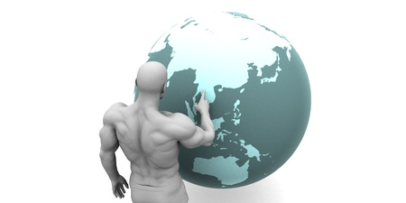 emerging markets: Business Expansion into Asia or Asean States Concept
