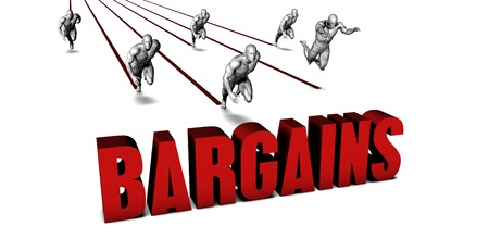 bargains: Better Bargains with a Business Team Racing Concept Stock Photo