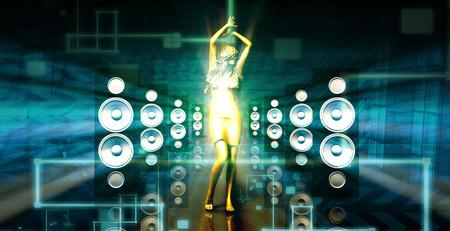 musica electronica: Partido Trance Beats Música de Concierto como un concepto