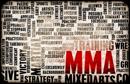 mixed martial arts: Mixed Martial Arts or MMA as a Grunge Concept Background
