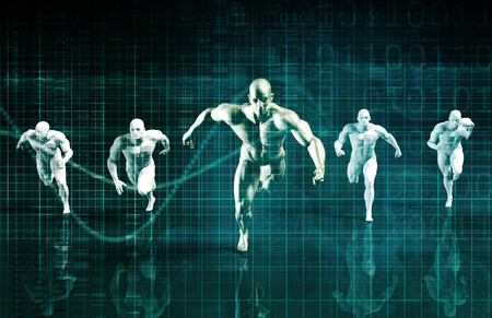 Sports Technology Abstract Concept Background as Art Stock Photo