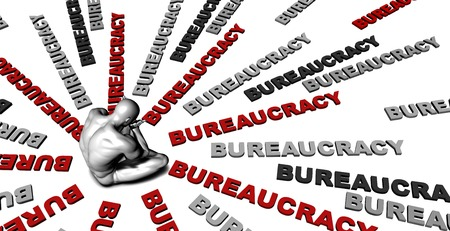 bureaucracy: Suffering From Bureaucracy with a Victim Crying Male Stock Photo