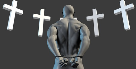 forgiven: Christian Outreach Program for Prisoner Repentance of Sins Stock Photo