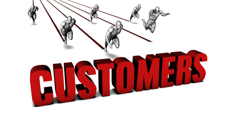 reach customers: More Customers with a Business Team Racing Concept