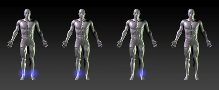 common target: Ankle Recovery or Rehabilitation with Blue Glow