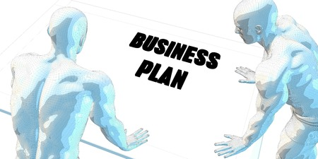 business meeting: Business Plan Discussion and Business Meeting Concept Art Stock Photo