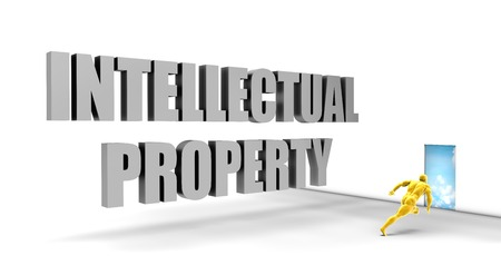 intellectual property: Intellectual Property as a Fast Track Direct Express Path Stock Photo