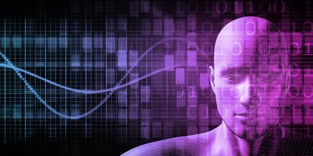 inteligencia: Implante humana Tecnolog�a Concepto como ilustraci�n Foto de archivo