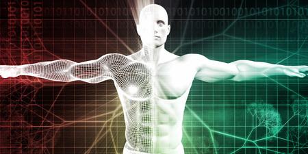 Medische Wetenschappen met het menselijk lichaam en Open Arms voor Scan