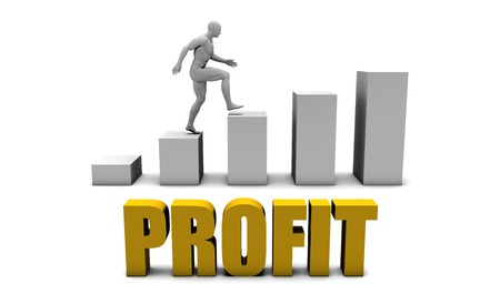 improving: Improve Your Profit  or Business Process as Concept Stock Photo