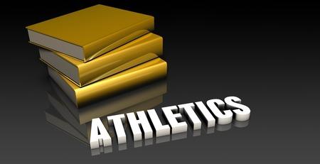 soumis: Athlétisme Sujet avec un tas de Education Livres Banque d'images
