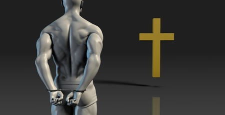convict: Divine Intervention and Religious Change for Convict Stock Photo
