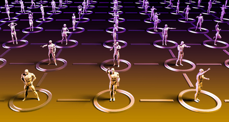 networking people: Social Networking People as a Business Concept Stock Photo