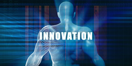 innovating: Innovation as a Futuristic Concept Abstract Background Stock Photo