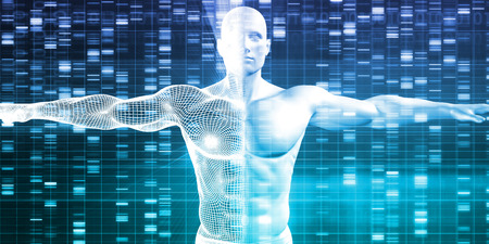 DNA Encoding and Genetic Code as a Science Abstract 스톡 콘텐츠