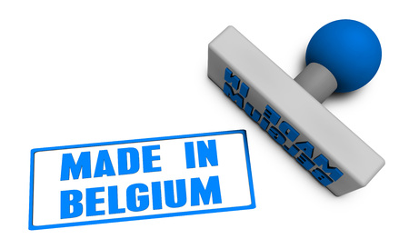 made in belgium: Made in Belgium Stamp or Chop on Paper Concept in 3d
