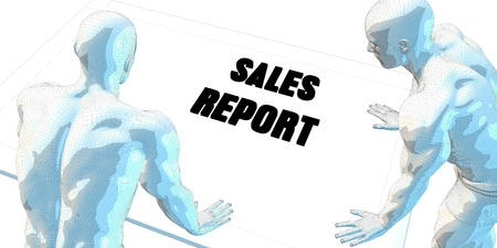 sales meeting: Sales Report Discussion and Business Meeting Concept Art