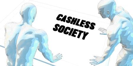 sociedade: Cashless Sociedade Discussão e Encontro de Negócios Concept Art