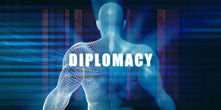 diplomacy: Diplomacy as a Futuristic Concept Abstract Background