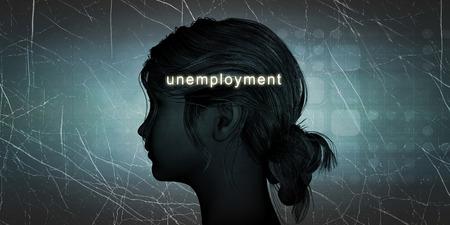 Vrouw die werkloos als een persoonlijke uitdaging Concept Stockfoto