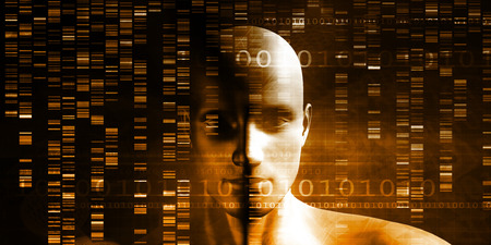 sequencing: DNA Chemistry Technology and Genome Sequencing Concept Stock Photo