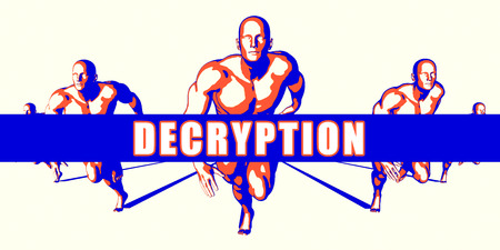 decryption: Decryption as a Competition Concept Illustration Art