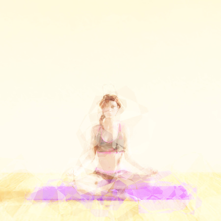 inner strength: Meditation Concept Illustration with Soothing Background Art Stock Photo