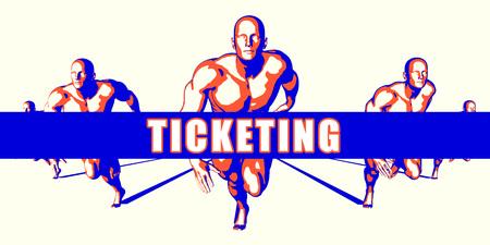 ticketing: Ticketing as a Competition Concept Illustration Art