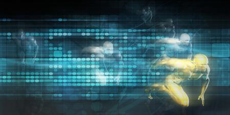 Concept de course futuriste avec le fond de la technologie comme Art