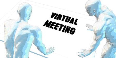 serious business: Virtual Meeting Discussion and Business Meeting Concept Art
