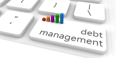 debt management: Debt Management as a Fast and Easy Website Concept Stock Photo