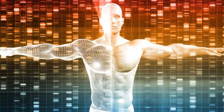 tige: Séquence d'ADN avec la génétique des données d'un mâle humain