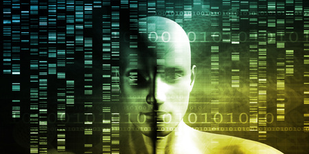 research science: Genetic Engineering Science Research and Development Concept Stock Photo