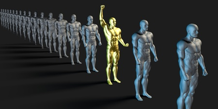 special individual: Special Employee and Individual Standing Out From the Crowd Stock Photo