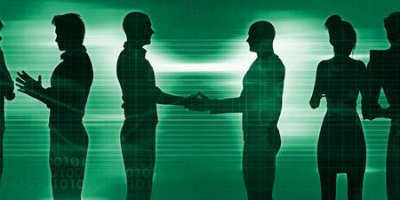Sesión de Networking de negocios como una ilustración del concepto