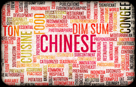 main dishes: Chinese Food and Cuisine Menu Background with Local Dishes