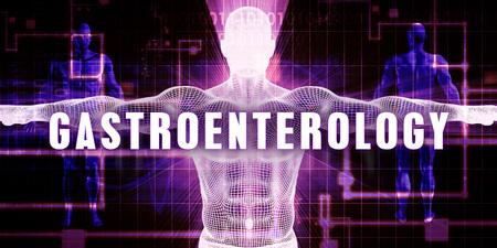 gastroenterology: Gastroenterology as a Digital Technology Medical Concept Art Stock Photo