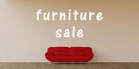 home sale: Furniture Sale Concept with Home Interior Art Stock Photo