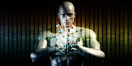 Futuristisch, Wissenschaft Hintergrund der Zukunft Kunst Standard-Bild - 53874550