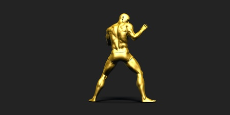 black gold: Sports Fitness Concept as a Abstract Background