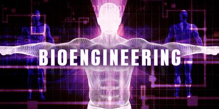 bioengineering: Bioengineering as a Digital Technology Medical Concept Art Stock Photo