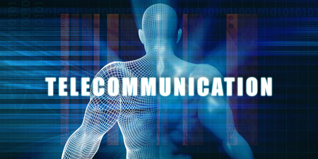 telecommunications: Telecommunication as a Futuristic Concept Abstract Background
