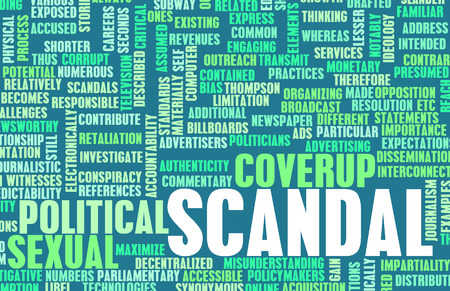 Scandale en tant que concept politique ou sexuelle Banque d'images