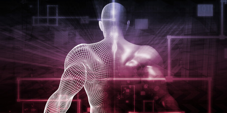 pacemaker: Digital Health System Software and Body Technology as Concept Stock Photo
