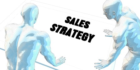 sales meeting: Sales Strategy Discussion and Business Meeting Concept Art Stock Photo