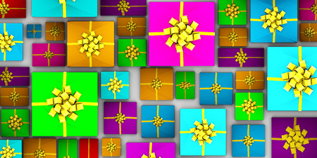 pile of papers: Pile of Presents as an Entire Whole Background Art Stock Photo
