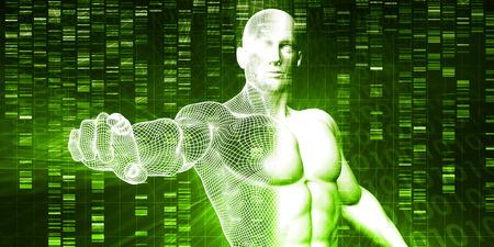 metodo cientifico: Pruebas genéticas y análisis como un resumen Foto de archivo