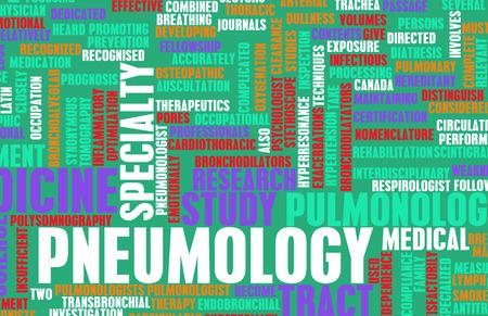 terminology: Pneumology or Pneumologist Medical Field Specialty As Art