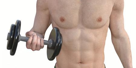 muscle training: Man Muskeltraining für einen gesunden Körper und Physique