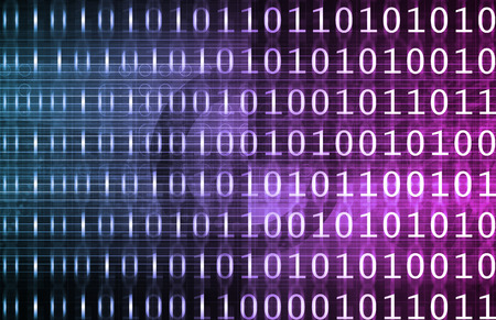 channel surfing: Tech Digital Data Transfer Network as Abstract Stock Photo